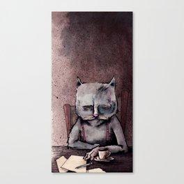 Hemingway cat Canvas Print