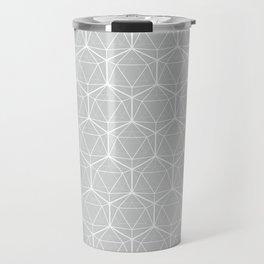 Icosahedron Soft Grey Travel Mug