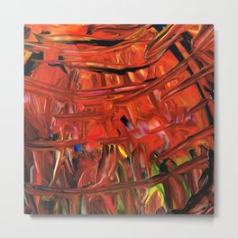Red Abstract Art - Warm Garden  - By Sharon Cummings Metal Print