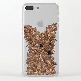 Cute Yorkie Clear iPhone Case