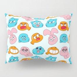 Gumball Faces Pattern Pillow Sham