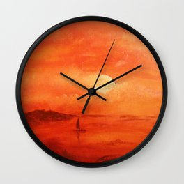 Sunset on the southern coast. Wall Clock