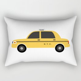 New York City, NYC Yellow Taxi Cab 2 Rectangular Pillow