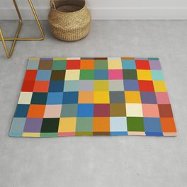 Haikili - Abstract Colorful Pixel Patchwork Art Rug