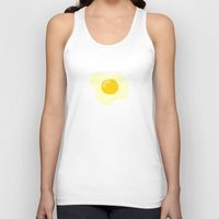 eggs Tank Tops featuring Fried Eggs by Alisa Galitsyna