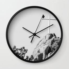 Cross and Crow Wall Clock