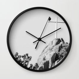 Cross and Crow Wall Clock