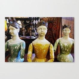 Lady statues Canvas Print