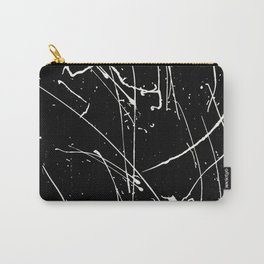 Black and white watercolor splatters pattern Carry-All Pouch