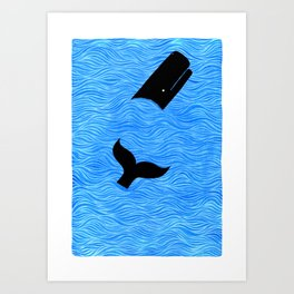 Whale in the Sea Art Print