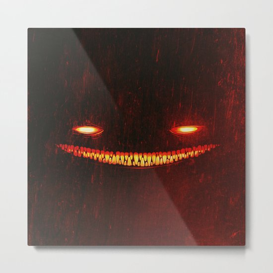Smile (Red) Metal Print