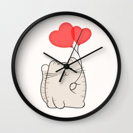 Eli, the love cat Wall Clock