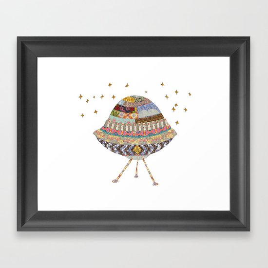 My Spaceship Will Come Framed Art Print