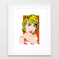popart Framed Art Prints featuring popart  by Biansa Naiyananont