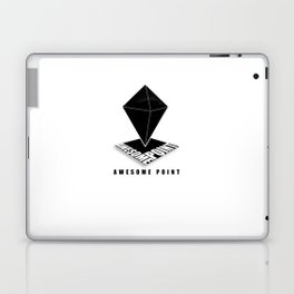 Awesome point Black Laptop & iPad Skin