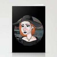 ginger Stationery Cards featuring Ginger by Julia Kolos