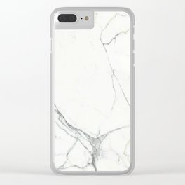White marble pattern Clear iPhone Case