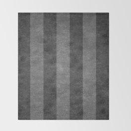 Grey Stripes Throw Blanket
