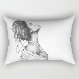 Pretty Lady Illustration Woman Portrait Beauty Rectangular Pillow