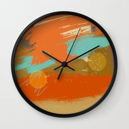 Secret Places, Abstract Landscape Art Wall Clock