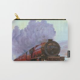 Train Snow Winter Painting  Smoke Carry-All Pouch