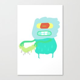 Drip monster Canvas Print