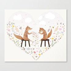 fox philosophers Canvas Print