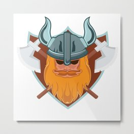 Viking Nordic Norse Mythology Valhalla Gods Gift Metal Print