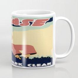 Vintage poster - Please Keep the Park Clean Coffee Mug