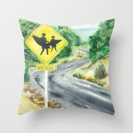 Beware of Surfers Throw Pillow