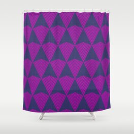 Arrows >>Navy+Pink Shower Curtain