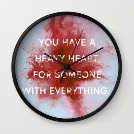 NIGHTWALKER | Heavy Heart Wall Clock