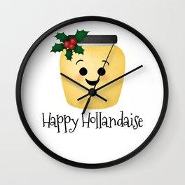 Happy Hollandaise Wall Clock