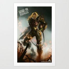 World War-Nintendo: Samus Art Print