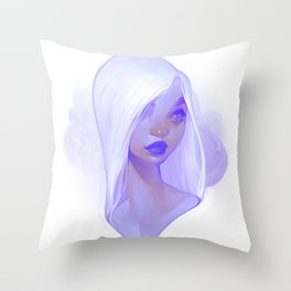visage - lilac Throw Pillow
