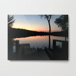 Cottage Lake Metal Print