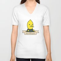 lemongrab V-neck T-shirts featuring This is Unacceptable by Love You