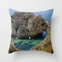 Ponta da Piedade, Lagos, Portugal Throw Pillow