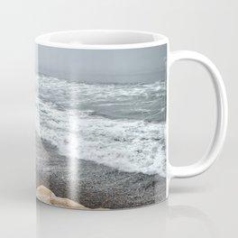 Surfer, High Tide. Torrey Pines State Beach, California. Coffee Mug