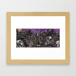 Zombies....Braaaiiinnnnsss!!! Framed Art Print