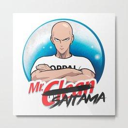 Mr Clean Saitama Metal Print