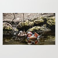 duck Area & Throw Rugs featuring Duck by Anand Brai
