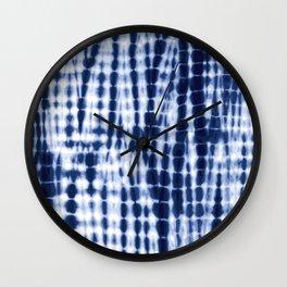Shibori Tie Dye Pattern Wall Clock