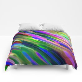 Colorful digital art splashing G487 Comforters