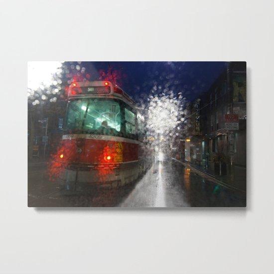 Rain Rider Metal Print