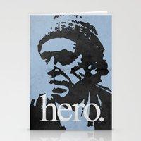bukowski Stationery Cards featuring Charles Bukowski - hero. by alex lodermeier