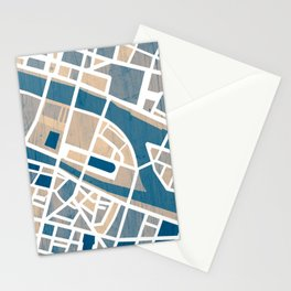 Paris Île de la Cité Map Stationery Cards