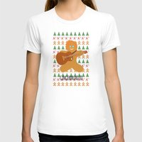 ed sheeran T-shirts featuring Gingerbread Ed by Laura Maria Designs