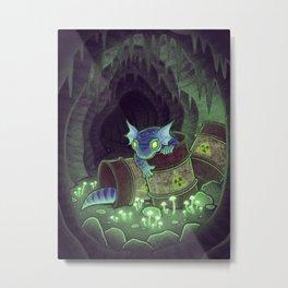Radioactive Geckos Metal Print