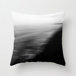 Flood. Abstract seascape. Throw Pillow